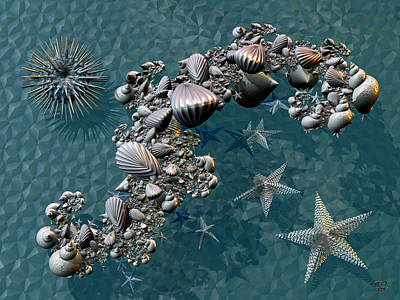 Digital Art - Fractal Sea Life by Manny Lorenzo
