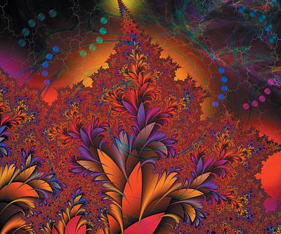 Digital Art - Fractal Space by Melinda Fawver