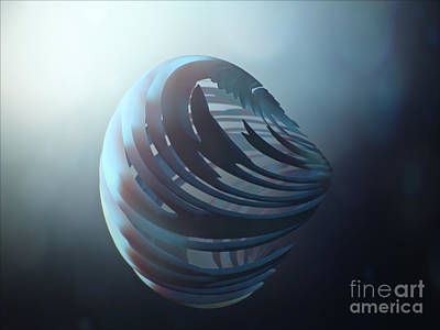 Abstract Painting - Fractal Sphere  by Pixel Chimp