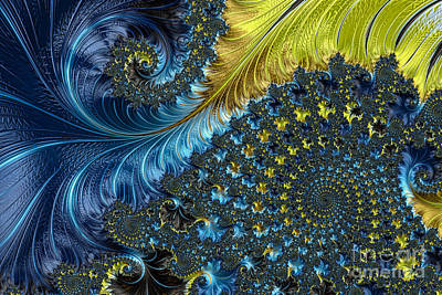 Recursive Digital Art - Fractal Spiral 3 - A Fractal Abstract by Ann Garrett