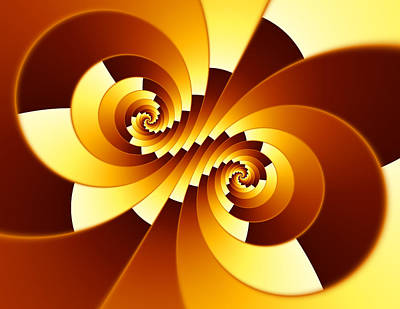 Fractal Stepped Spiral Art Print by Hakon Soreide
