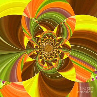 Digital Art - Fractal - Summer Into Fall - Luther Fine Art by Luther Fine Art