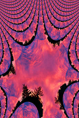 Fractal Sunrise Art Print by Kevin Bone