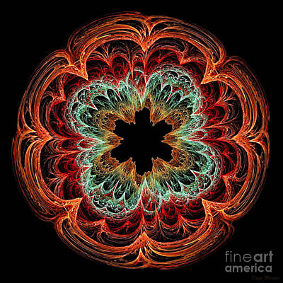 Digital Art - Fractal Symmetry by Kaye Menner