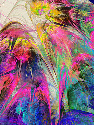 Digital Art - Fractal - Tropical Flowers by Susan Savad