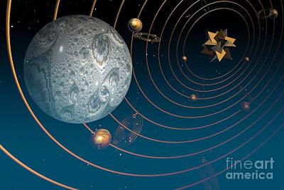 Surrealism Digital Art - Fractal Universe by Steve Purnell