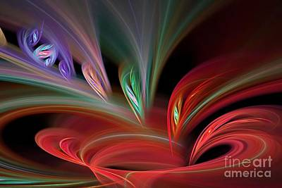Surrealism Digital Art Rights Managed Images - Fractal Vortex swirl Royalty-Free Image by Brian Raggatt