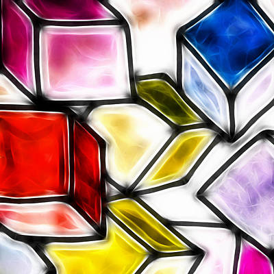 Fractalius Cubes Art Print by Sharon Lisa Clarke