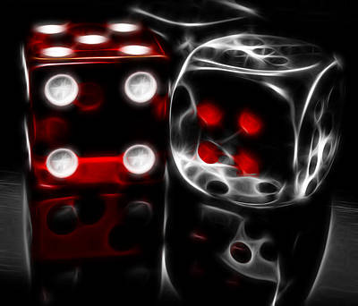 Reflection Photograph - Fractalius Dice by Shane Bechler