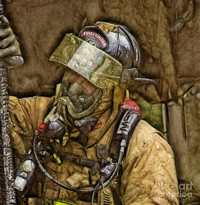 Photograph - Fractalius Interior Firefighter by Jim Lepard