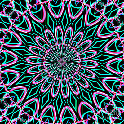 Digital Art - Fractalscope 21 by Rose Santuci-Sofranko