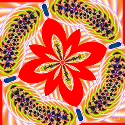 Digital Art - Fractalscope 6 by Rose Santuci-Sofranko