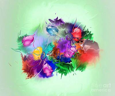 Fractured Bouquet 7 Art Print by John Krakora