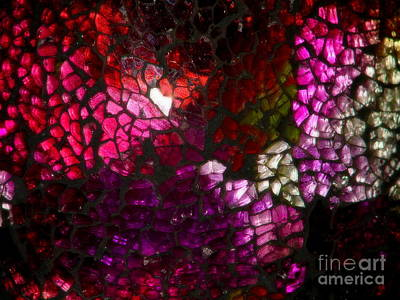 Photograph - Fractured Color by Lew Davis