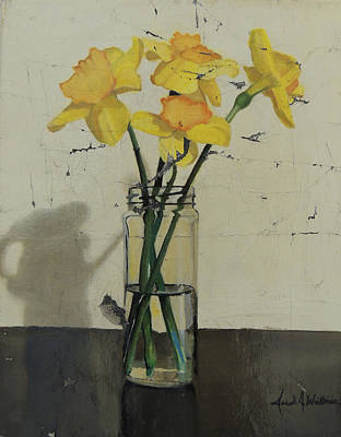 Daffodils Painting - Fractured Daffodils by Jared Wilkins