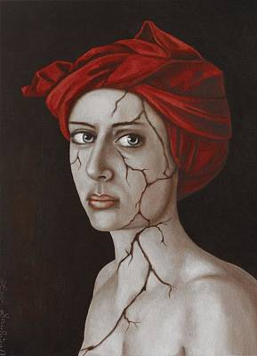 Depression Painting - Fractured Identity Edit 9 by Leah Saulnier The Painting Maniac