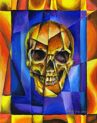 Painting - Fractured Skull by Michael Ivy