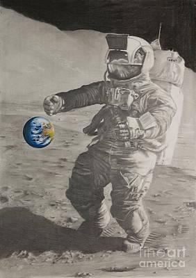 Astros Mixed Media - Fragil Tierra Fragile Earth by Ignacio Bernacer Alpera