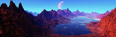 Digital Art - Fragile Planet.panorama.digitally by Raj Kamal