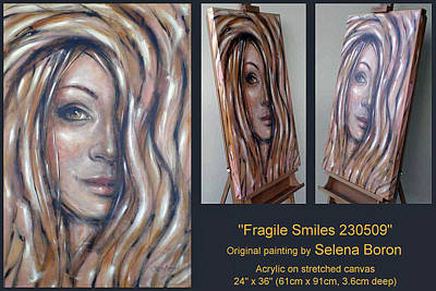Art Print featuring the painting Fragile Smiles 230509 Comp by Selena Boron