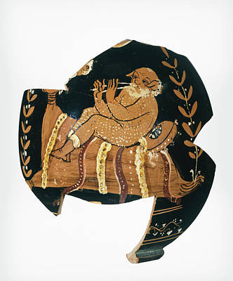 Squat Painting - Fragment Of An Apulian Squat Lekythos Attributed by Litz Collection