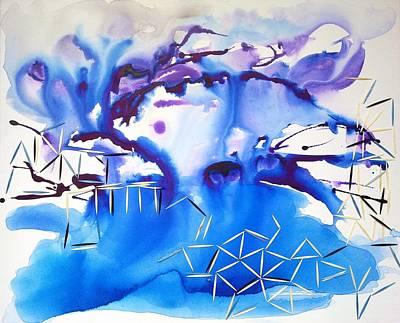 Abstracto Mixed Media - Fragmentation Process by Lola Saavedra