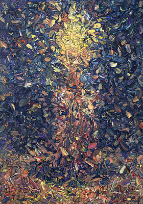 Mosaic Painting - Fragmented Flame by James W Johnson
