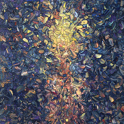 Painting - Fragmented Flame - Square by James W Johnson