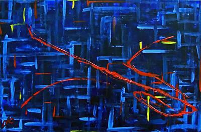 Artificial Intelligence Painting - Fragmented Memories by Derek Allen Odom
