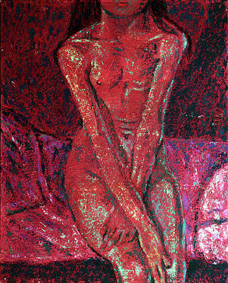 Painting - Fragments In Red #14. Munch by Alfredo Gonzalez