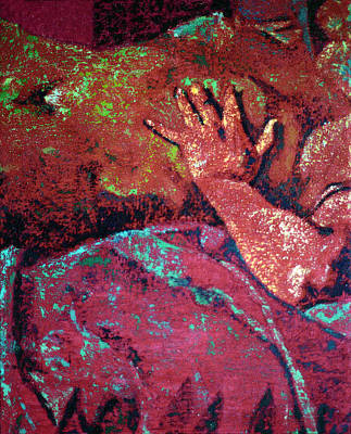 Painting - Fragments In Red #16. Fortuny by Alfredo Gonzalez