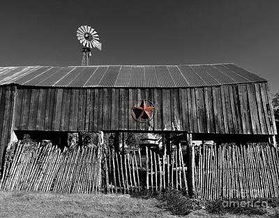 Fragments Of Color Barn Print by Julian  Walters