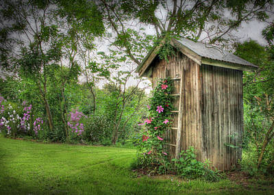 Floral Photograph - Fragrant Outhouse by Lori Deiter