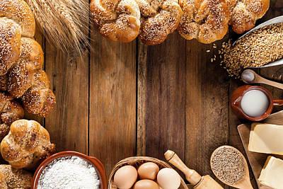 Frame Of Ingredients For Bread Art Print by Fcafotodigital