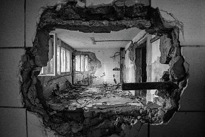 Broken Wall Art - Photograph - Frame by Sebasti??n Ku??kovsk??