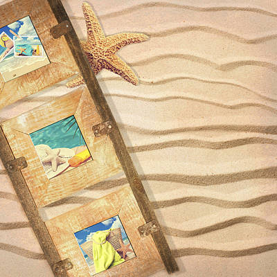 Frame With Postcards Art Print by Amanda Elwell