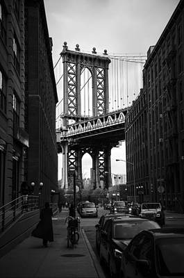 Framed Bridge -brooklyn Art Print by Paul Scolieri