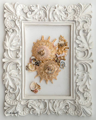 Seashells Mixed Media - Framed by Dawn Broom