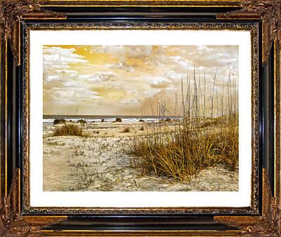 Nautical Digital Art - Framed Dunes by Betsy Knapp