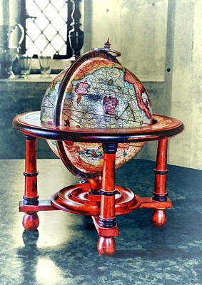 Photograph - Framed Globe by Paul Gulliver
