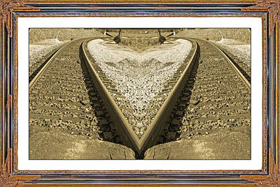 Full Moon Mixed Media - Framed Heart by Betsy Knapp