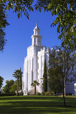 Utah Temple Photograph - Framed House by Chad Dutson