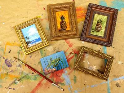 Painting - Framed Miniatures by Darice Machel McGuire