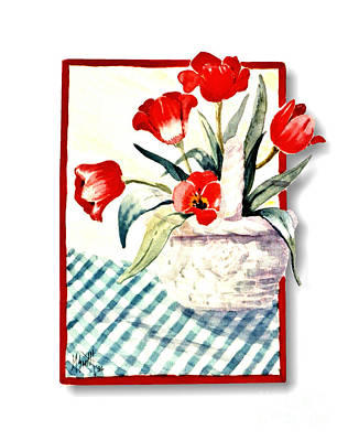 Painting - Framed Tulips by Marilyn Smith