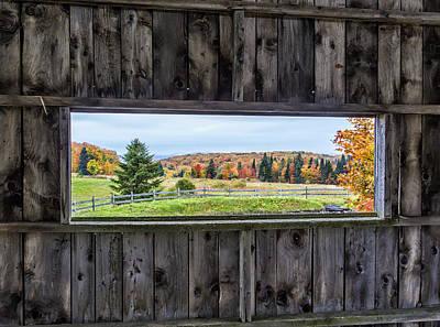 Framed-autumn In Vermont Art Print