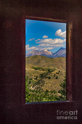 Photograph - Framed White Dome Mountain Range by Robert Bales