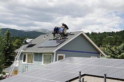 Frameless Solar Installation Underway Art Print
