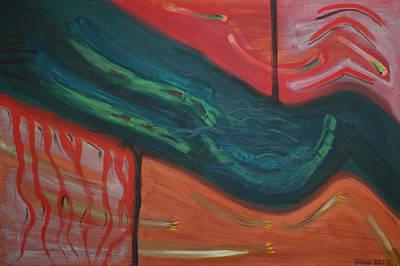 The Universe Painting - Framework 2012 by Drea Jensen