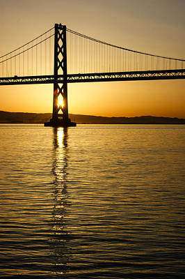 Photograph - Framing The Sunrise At San Francisco's Bay Bridge In California by Georgia Mizuleva
