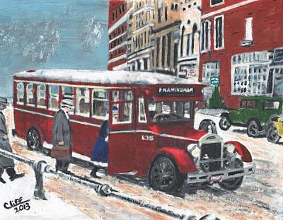 Ma. Mass Painting - Framingham Bus by Cliff Wilson